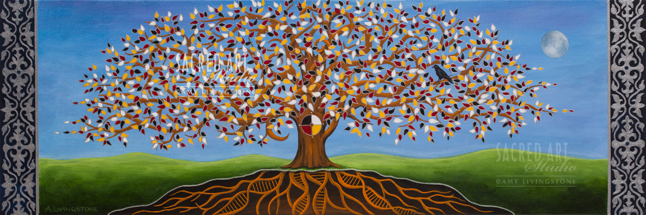 "All Nations Tree of Life: 2015-2016, 24x12"" Acrylic"