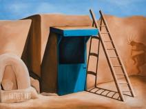 "Sacred Threshold (Taos Pueblo): 1997/2015, 40x30"" Acrylic (SOLD)"