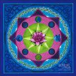 "Isa Mandala (Winter): 2004, 24x24"" Acrylic & Jewels"