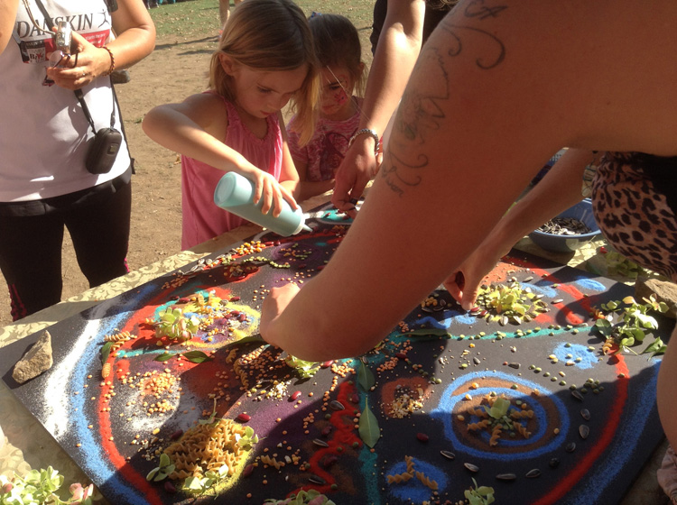 kids and mandala