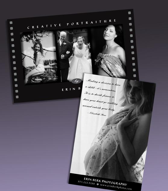 Erin Berk Photography. Promotional Card.