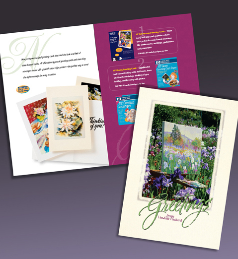 hp. Greeting Card Paper. Direct Mail.